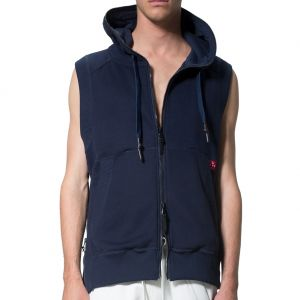LEVEL Blaize Unisex Sleeveless Hoodie L1718 Indigo