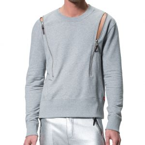 LEVEL Riley Unisex Chunky Sweat L2218 Grey Marle