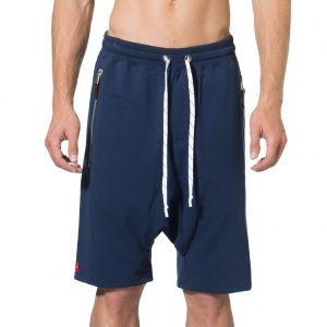 LEVEL Mason Dropped Crotch Zipper Short L5218 Indigo Blue