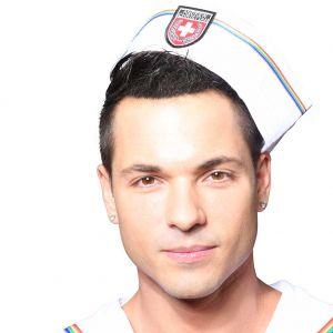 Andrew Christian Pride Sailor Hat 8466 White