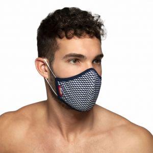 ES Collection Pique Face Mask AC098 Navy