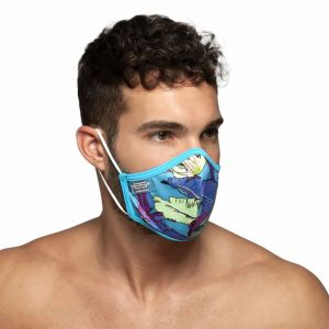 ES Collection Leaves Face Mask AC101 Peacock