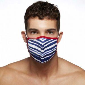 Addicted Sailor Face Mask AC114 Blue Stripes