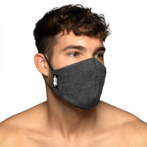 ES Collection Plain Charcoal Face Mask AC129 Charcoal