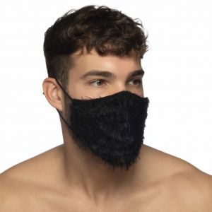 Addicted Feather Face Mask AC131 Black