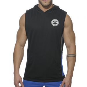 Addicted Sleeveless Running Hoodie AD231 Black