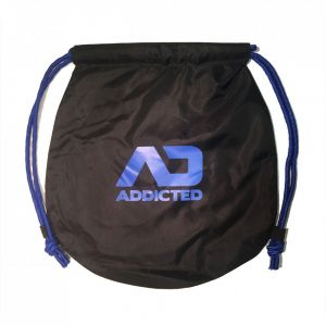 Addicted Addicted Drawstring Beach Bag AD451 Blue
