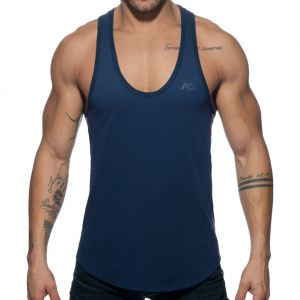 Addicted Flags Tape Swim Tank Top AD777 Navy