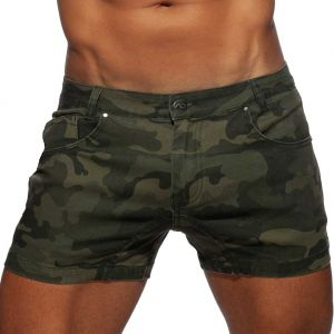 Addicted Camo Short Jeans AD829 Green Camo