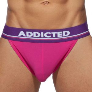 Addicted RingUp C-Through Bikini Brief AD920 Fuchsia