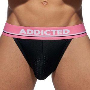 Addicted RingUp Mesh Bikini Brief AD932 Black