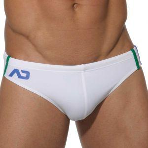 Addicted Low Cut Sports Swim Brief ADS005 White