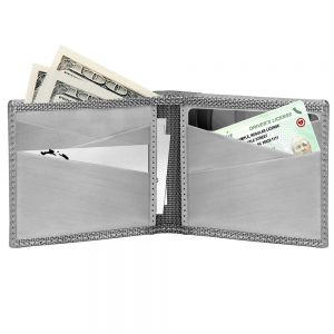 Stewart Stand Stainless Steel Bifold Wallet BF3101 Checkered