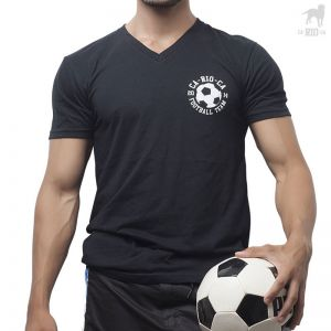 Carioca Football Soccer Team V Neck Tee A102801 Black