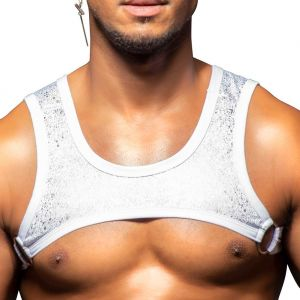 Andrew Christian Snow Ring Harness 3204 White/Silver