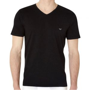 Emporio Armani Cotton V Neck 3 Pack T-Shirt 110856 CC712 Black