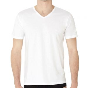 Emporio Armani Cotton V Neck 3 Pack T-Shirt 110856 CC712 White