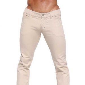 Rufskin Johnson Stretch Twill Low Rise Slim Jeans Sand