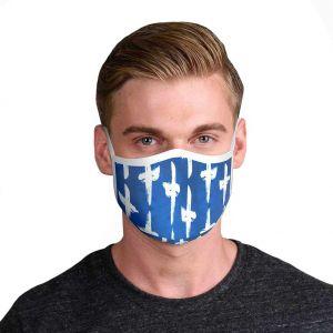 Rolling Skulls DefenderSkullPLUS Reusable 3-Layer Face Mask MSK01 Santorini