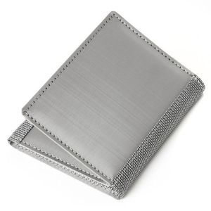 Stewart Stand Stainless Steel Trifold Technical Wallet TF1001 Silver