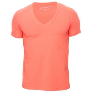 Teamm8 Dive V Neck Tee TCDIVE Coral