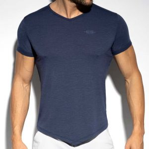 ES Collection V-Neck Flame T-Shirt TS283 Navy