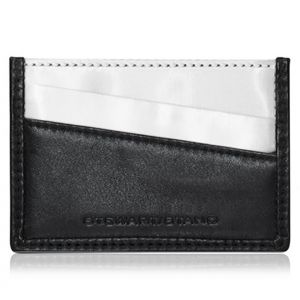 Stewart Stand Stainless Steel Leather Card Case Wallet WC5001 Black
