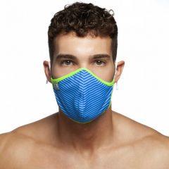 Addicted Stripes Combi Face Mask AC115 Blue