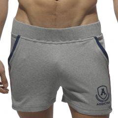 Addicted Intercotton Tight Shorts AD337 Heather Grey Mens Shorts