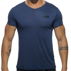 Addicted Basic V Neck T-Shirt AD423 Navy Mens T-Shirt
