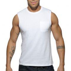 Addicted Basic Tank Top AD531 White Mens T-Shirt