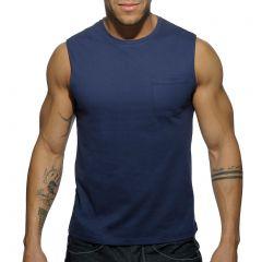 Addicted Basic Tank Top AD531 Navy Mens T-Shirt