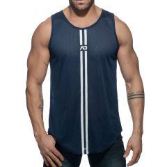 Addicted Double Stripe Tank Top AD671 Navy Mens Underwear