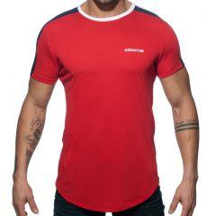 Addicted Ranglan Addicted T-Shirt AD778 Red Mens T-Shirt