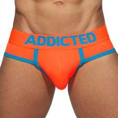 Addicted Neon RingUp Swimderwear Swim Brief AD917 Neon Orange Mens Underwear