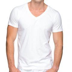 Teamm8 Classic V Neck Tee TCCVNT White Mens Sportswear