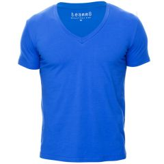 Teamm8 Dive V Neck Tee TCDIVE Brilliant Blue Mens Sportswear