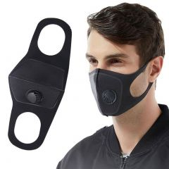 Reusable PM2.5 Pollution Face Mask with Respirator Black [In Stock Right Now!]