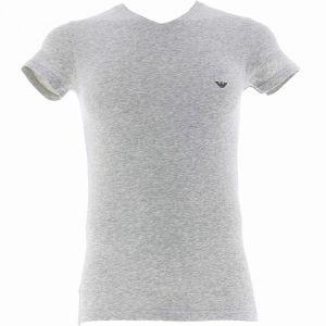 Emporio Armani V-Neck T-Shirt 110810 Grey Marle