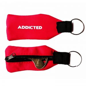 Addicted Zipper Key Ring AC030 Red