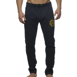 Addicted French Terry Embroidered Slim Sweat Pants AD263 Navy