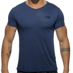 Addicted Basic V Neck T-Shirt AD423 Navy