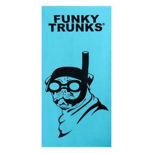 Funky Trunks Cotton Large Towel FT900 Snorkel Pug