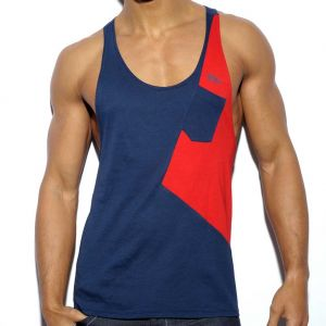 ES Collection Bias Tank Top TS180 Navy